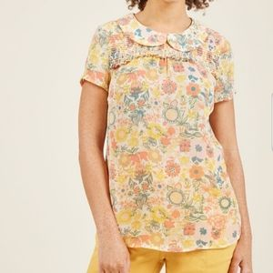 ModCloth Buttercup Peter Pan collar shirt